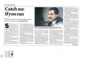 September 25, Mail & Guardian